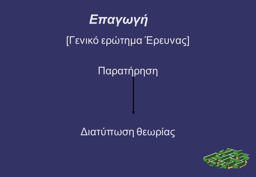 [Γενικό ερώτημα Έρευνας]